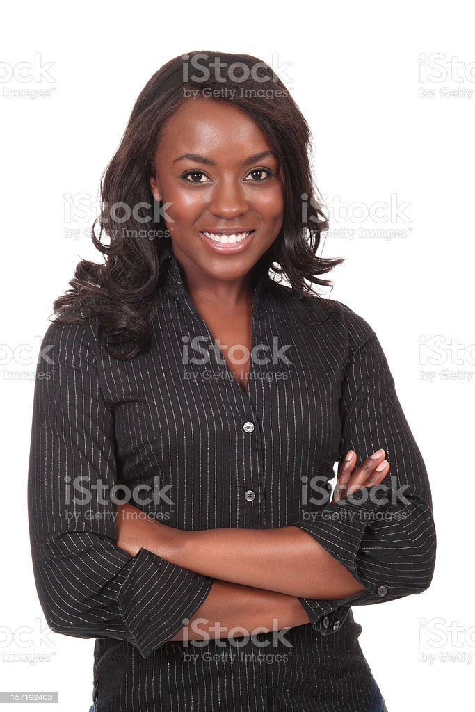 Stylish Young African American Woman stock photo