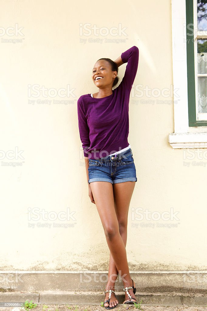 Stylish young african woman stock photo