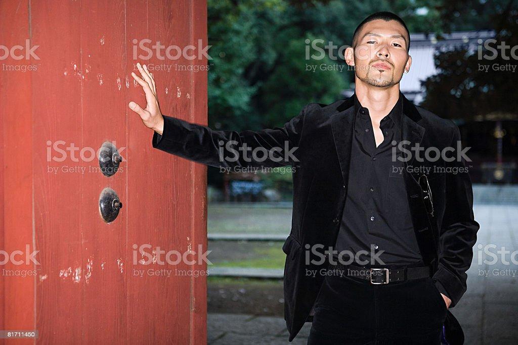 Stylish young japanese man royalty-free stock photo