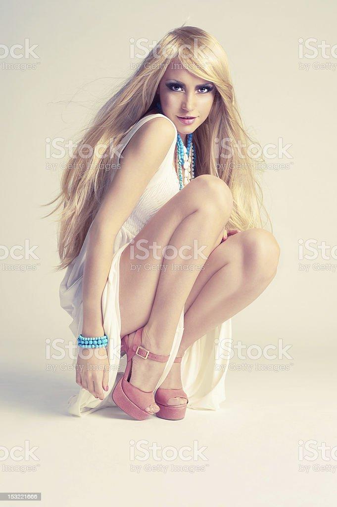Stylish young woman royalty-free stock photo