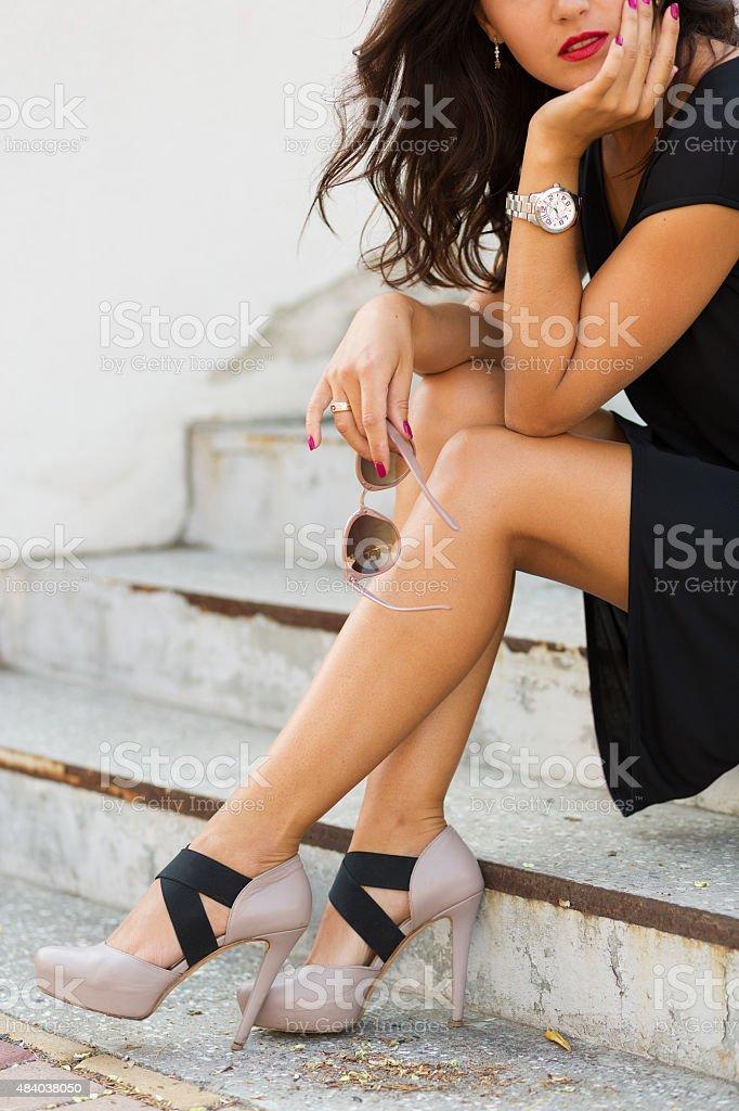 Stylish young woman stock photo