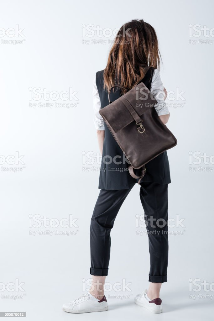 Stylish young woman stock photo