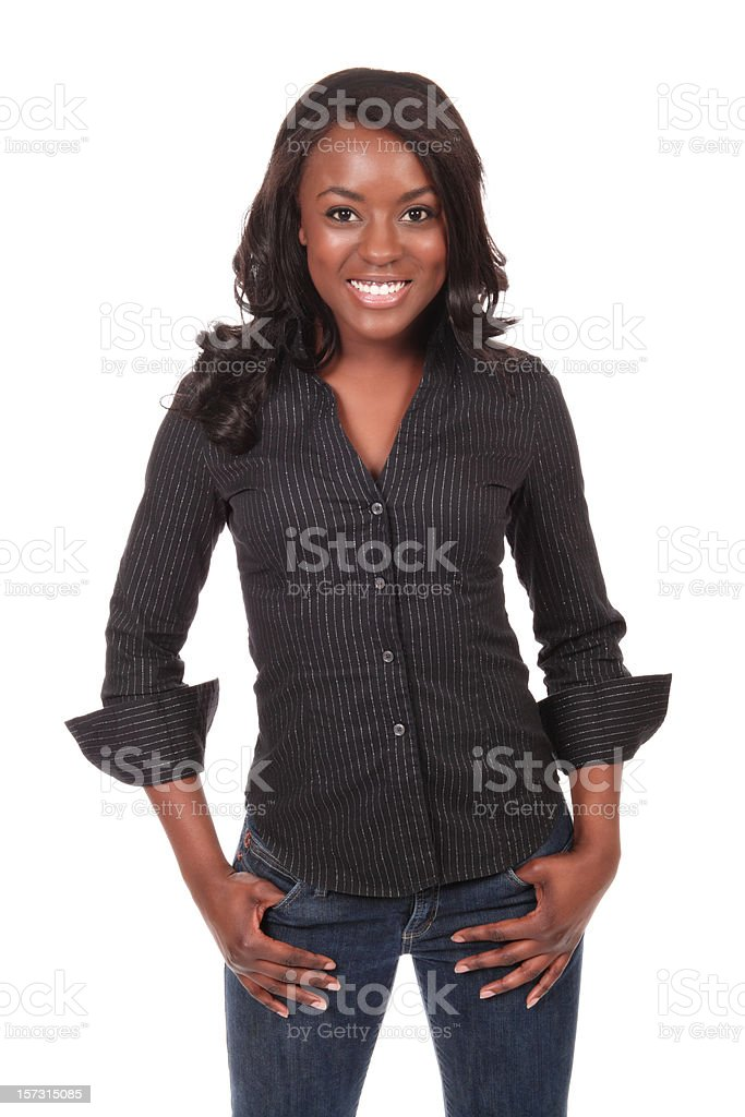 Stylishly Casual Young Woman royalty-free stock photo