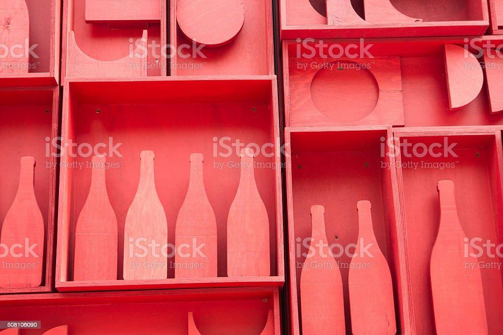 Stylization of small cellar stock photo