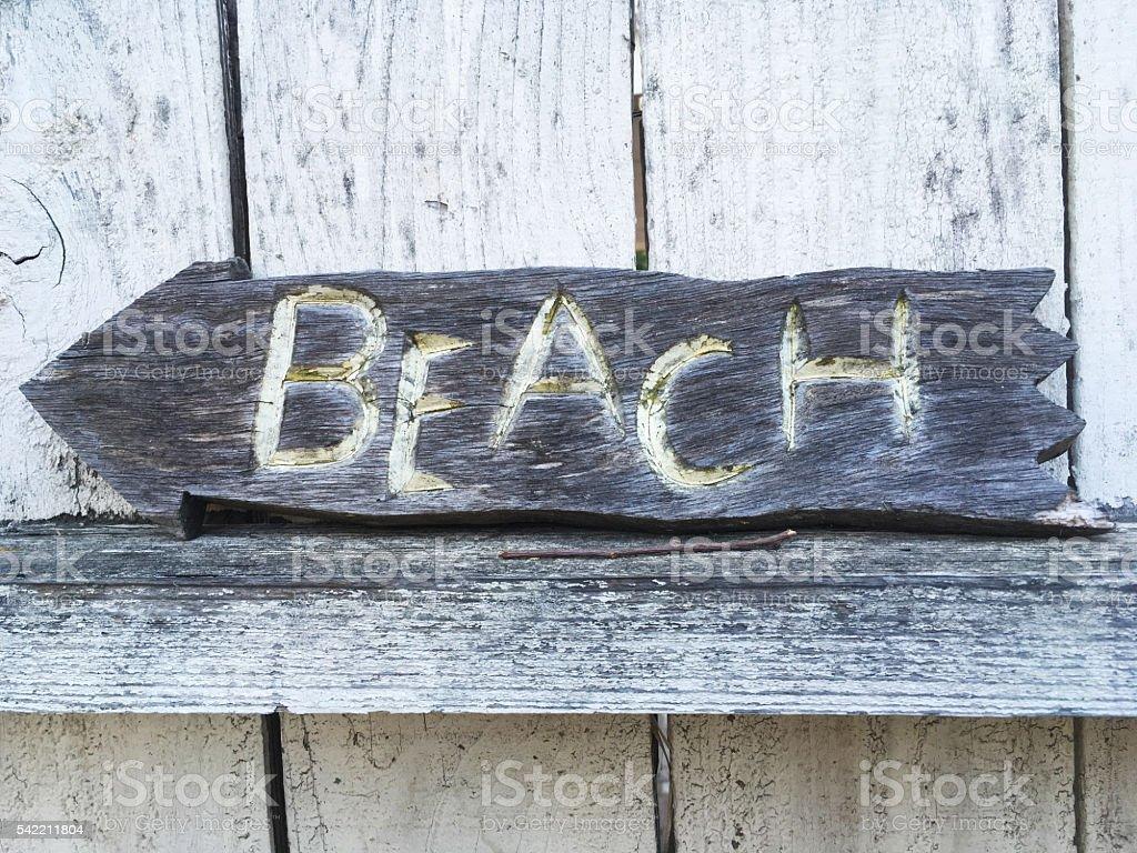 Stylized Beach Sign stock photo