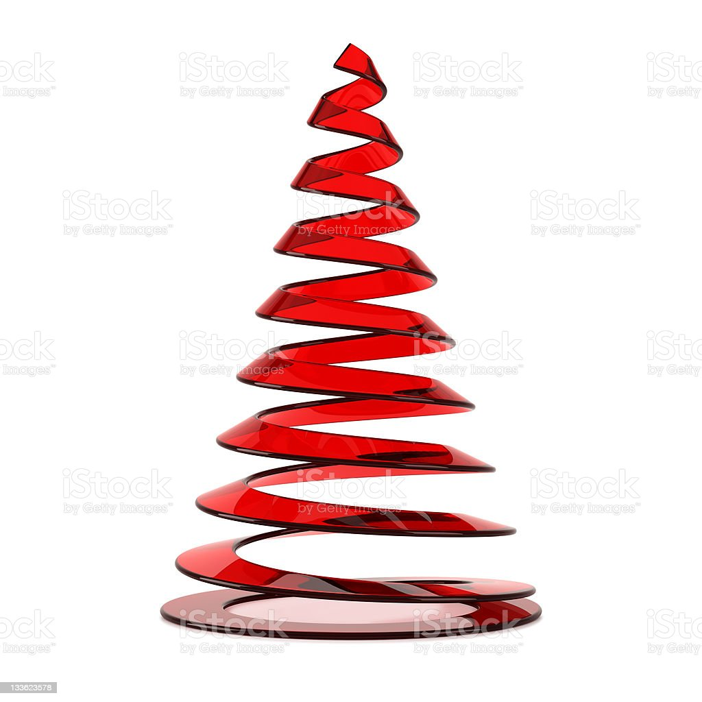 Stylized Christmas tree in red glass royalty-free stock vector art