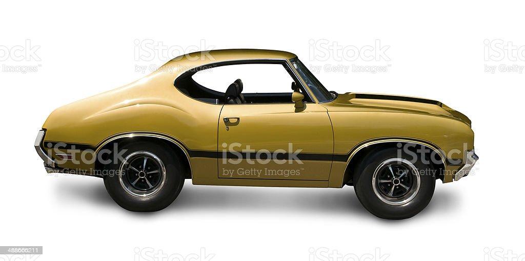 Stylized Muscle Car stock photo