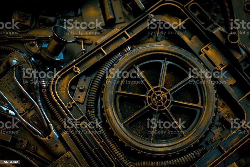 Stylized of a steampunk mechanical stock photo