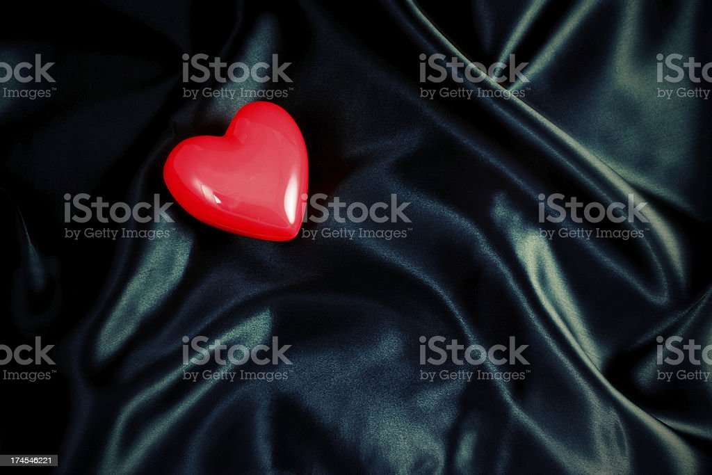 Stylized Red Heart Background royalty-free stock photo