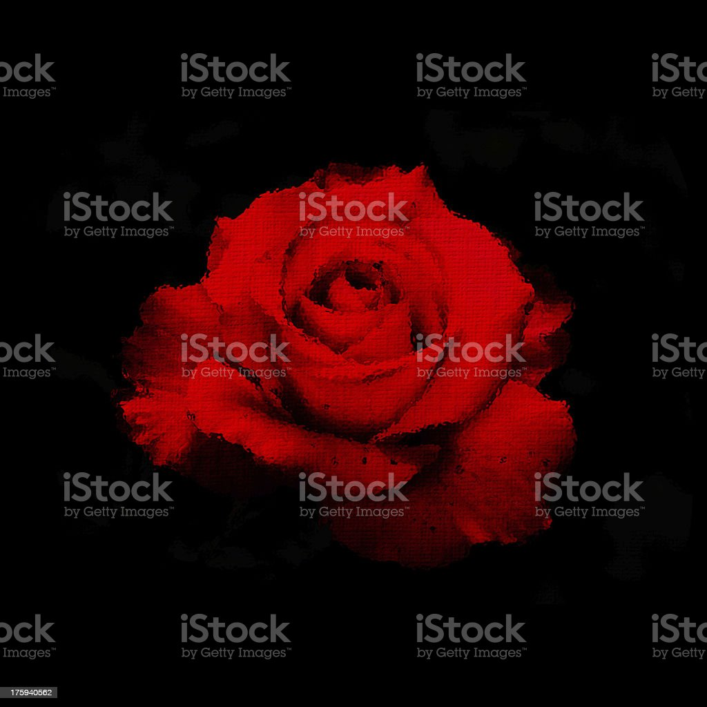 Stylized red rose royalty-free stock photo