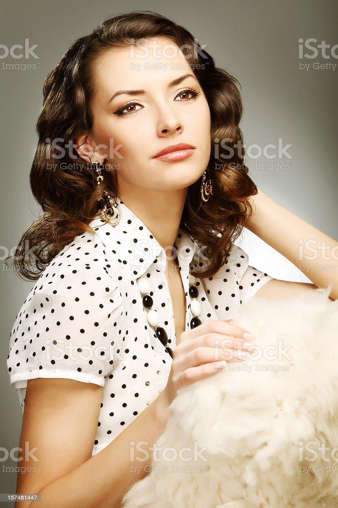 Stylized retro portrait stock photo