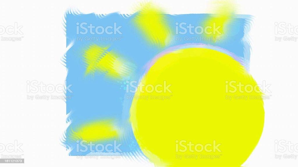 stylized sun stock photo