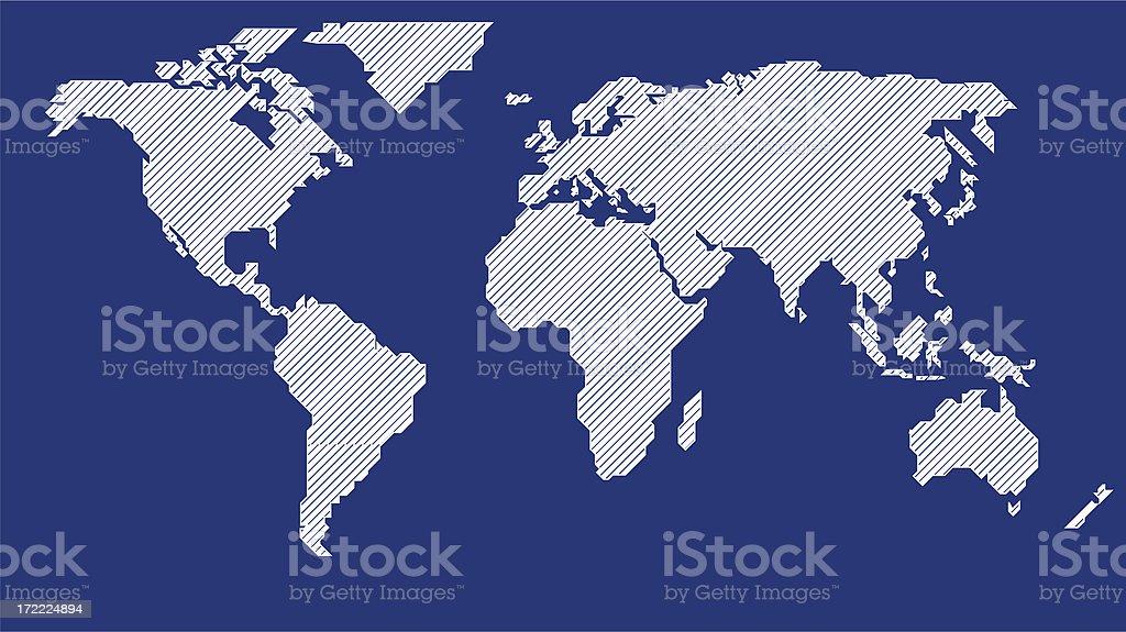 stylized world map ( bitmap ) royalty-free stock photo