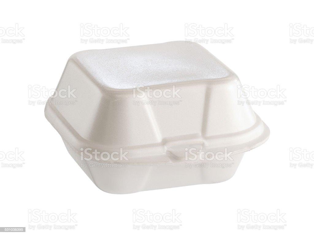 Styrofoam box stock photo
