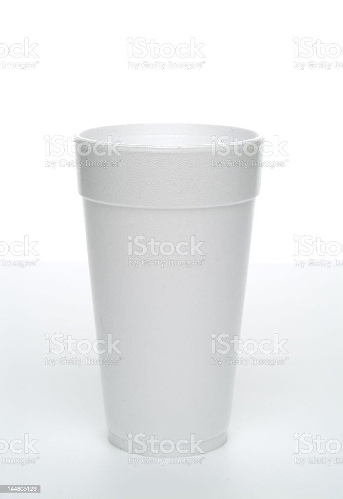 Styrofoam cup. stock photo