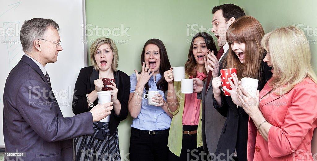 Styrofoam cup shock royalty-free stock photo
