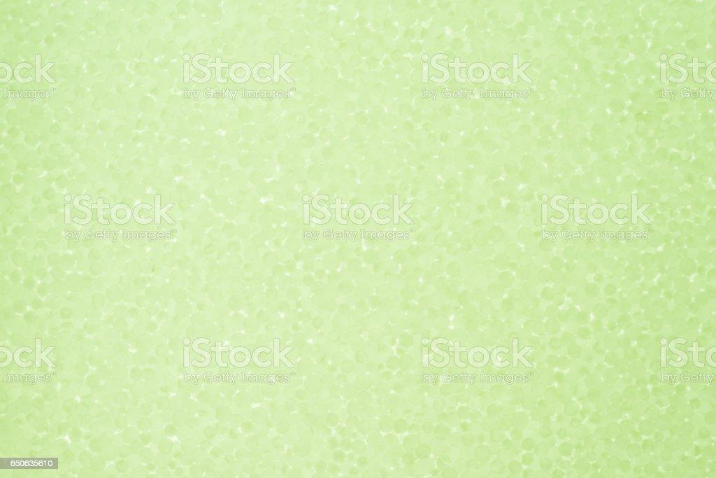 Styrofoam light green background stock photo
