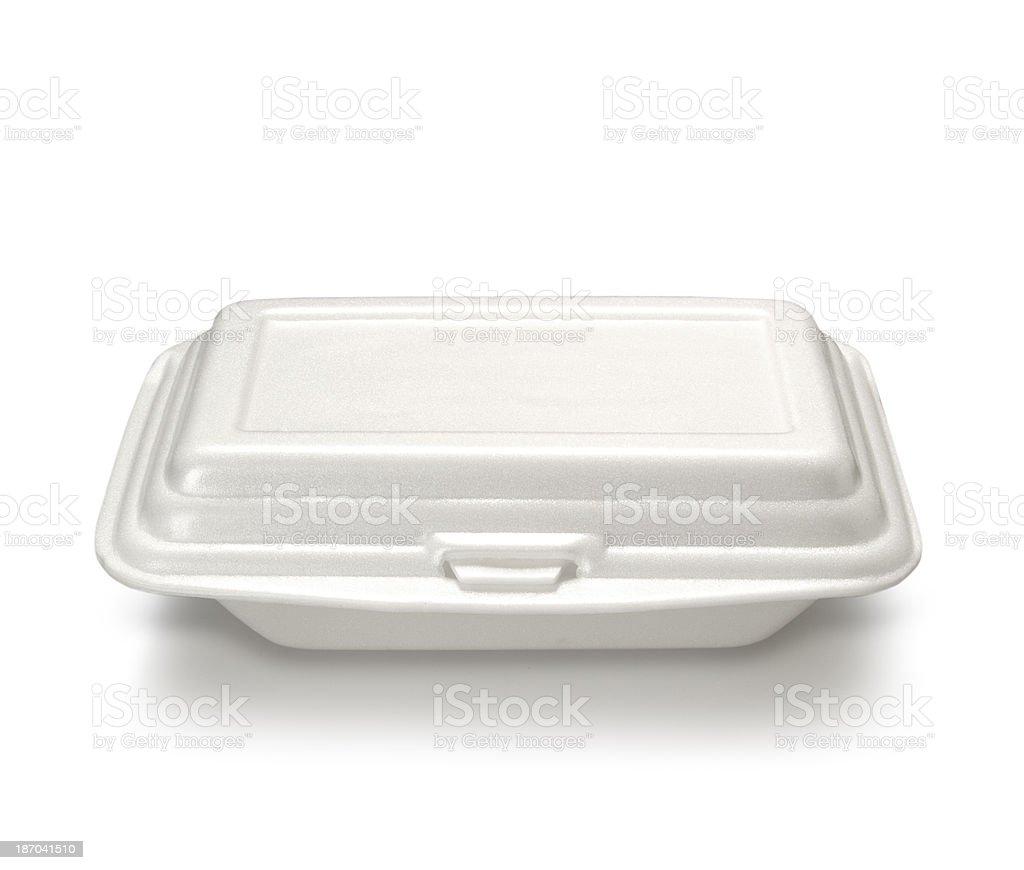 Styrofoam meal box stock photo