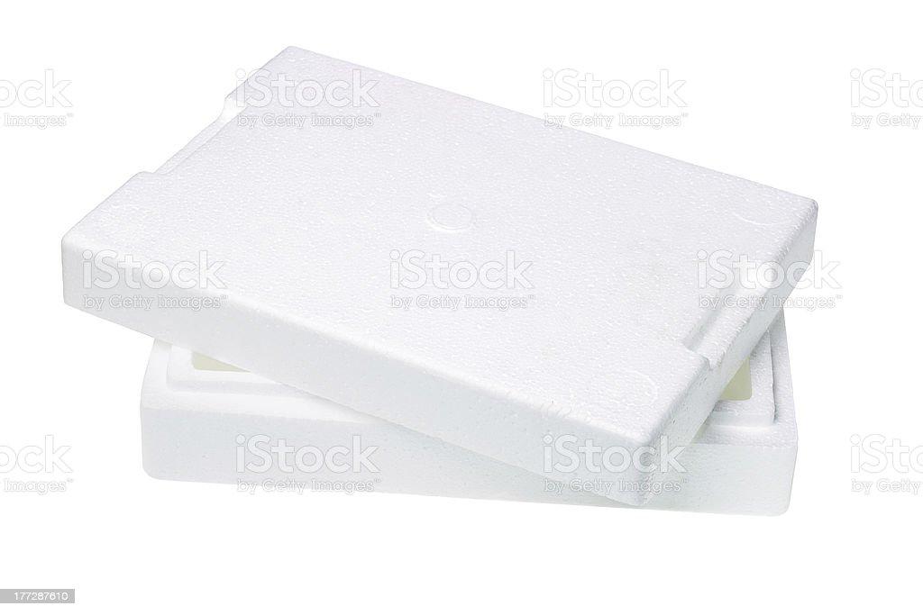 Styrofoam Packing Box stock photo