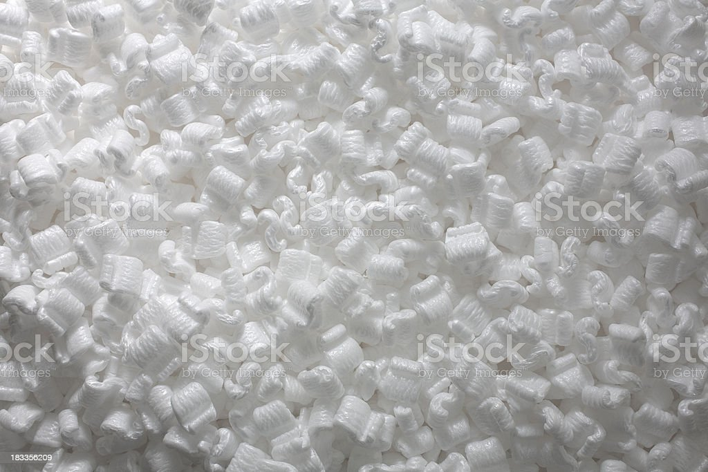 Styrofoam Packing Peanuts stock photo