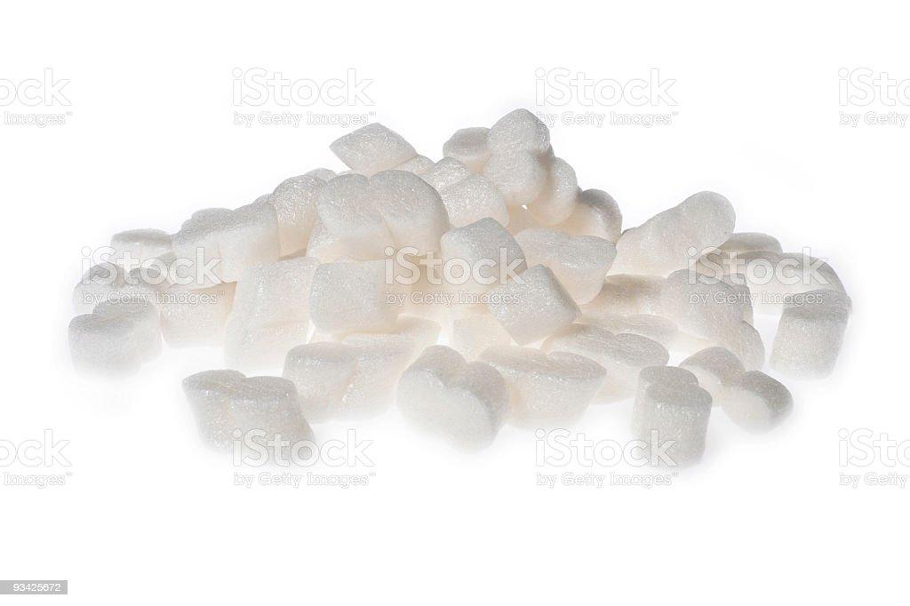 styrofoam peanuts stock photo