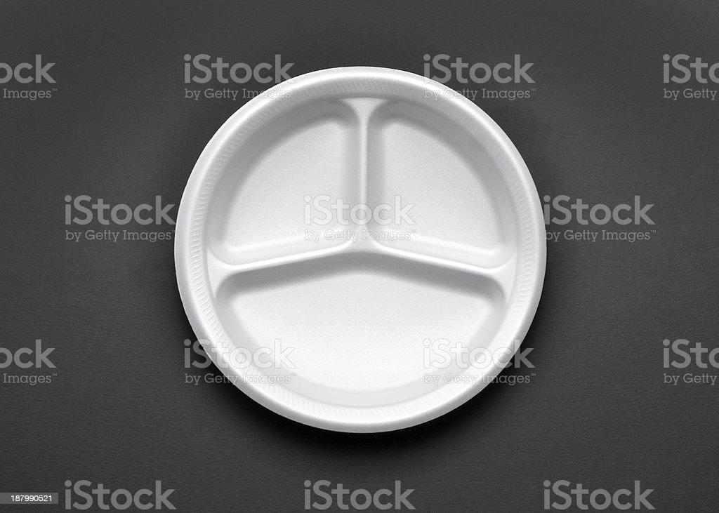 Styrofoam Plate stock photo