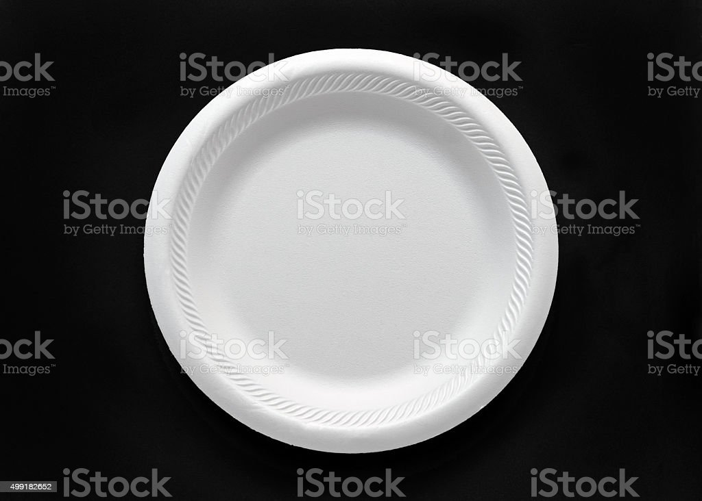 Styrofoam Plate stock photo