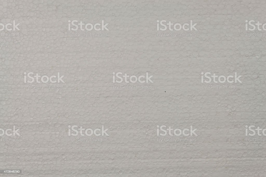 Styrofoam plates, a detailed look at the structure of polystyrene stock photo
