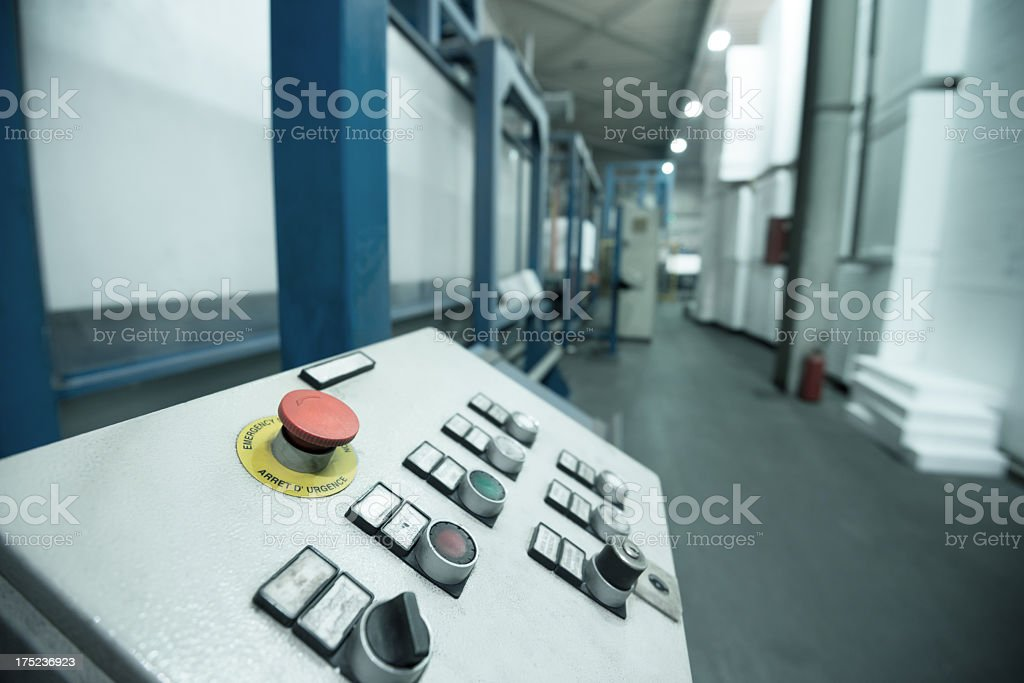 Styrofoam production factory stock photo