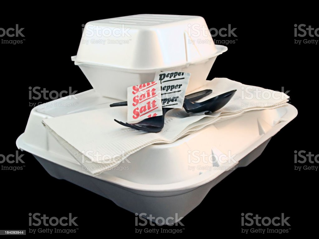 Styrofoam Still Life stock photo