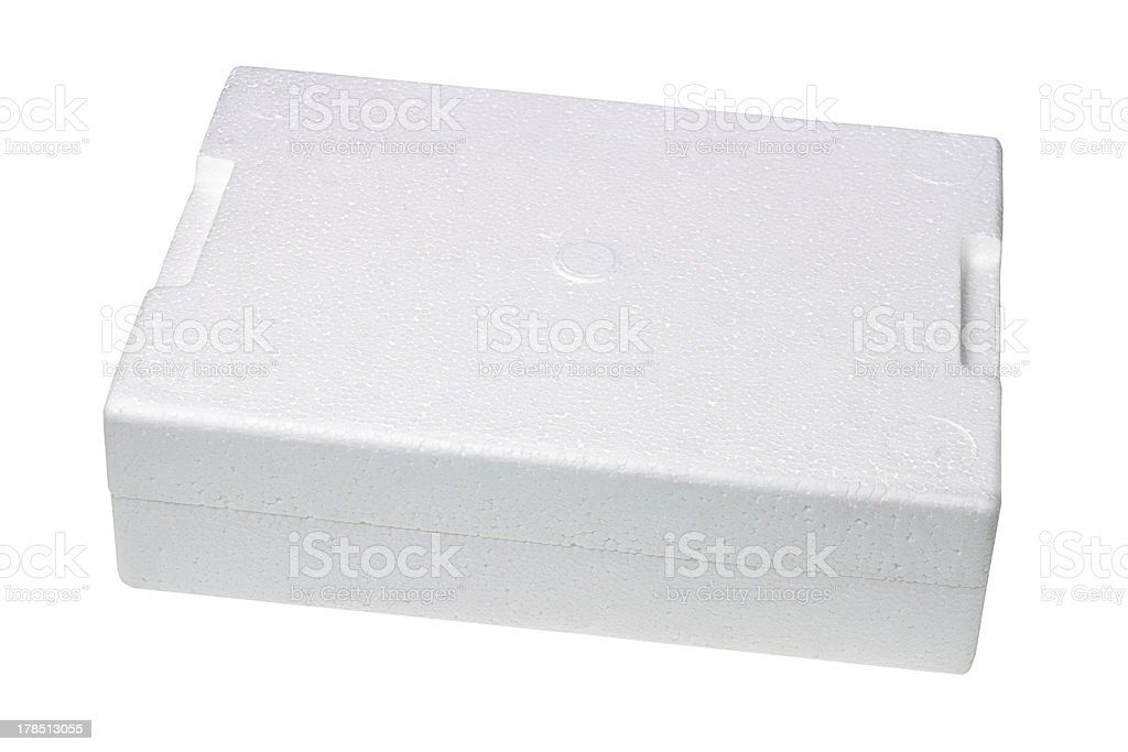 Styrofoam Storage Box royalty-free stock photo