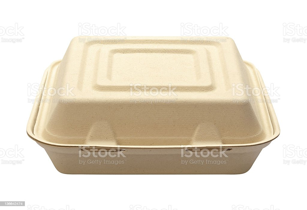 StyrofoamTake Out Box with a clipping path royalty-free stock photo