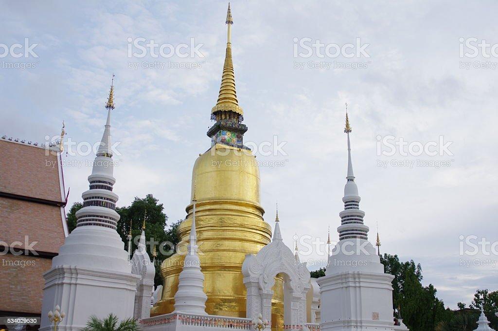Suan Dok temple at Chiang Mai stock photo