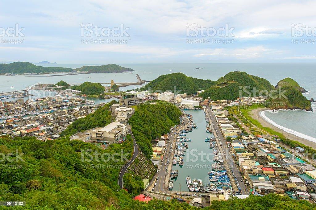 Suao Harbor in Taiwan stock photo