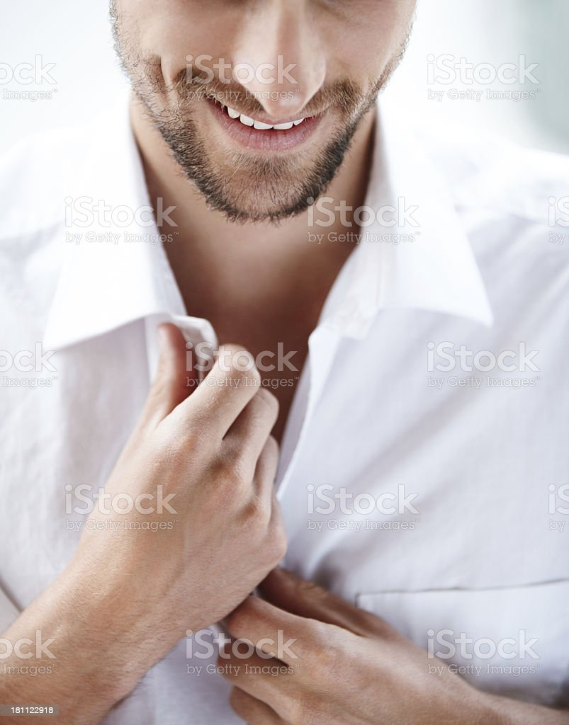 Suave and sexy young man stock photo
