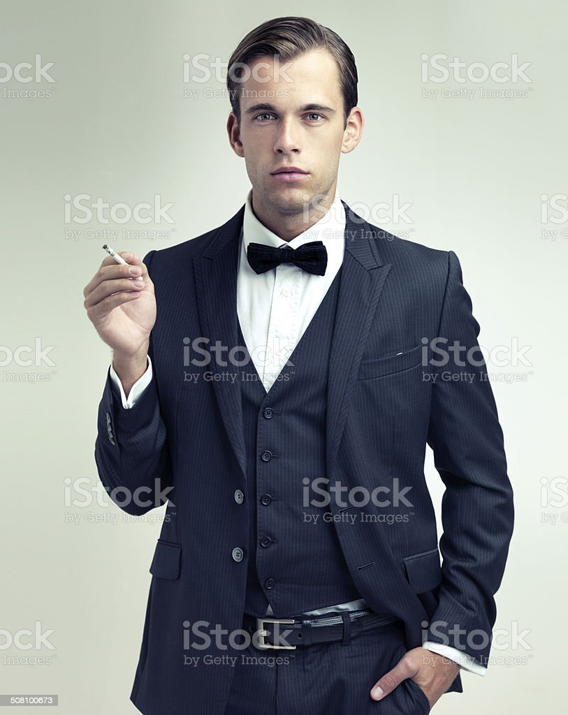Suave and sophisticated stock photo