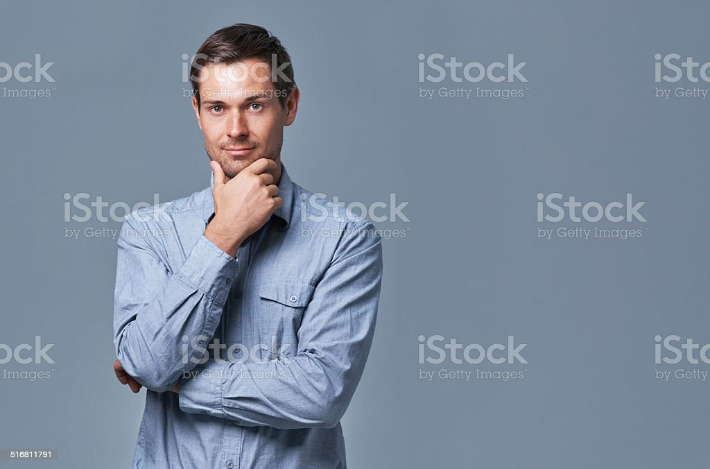 Suave and successful stock photo