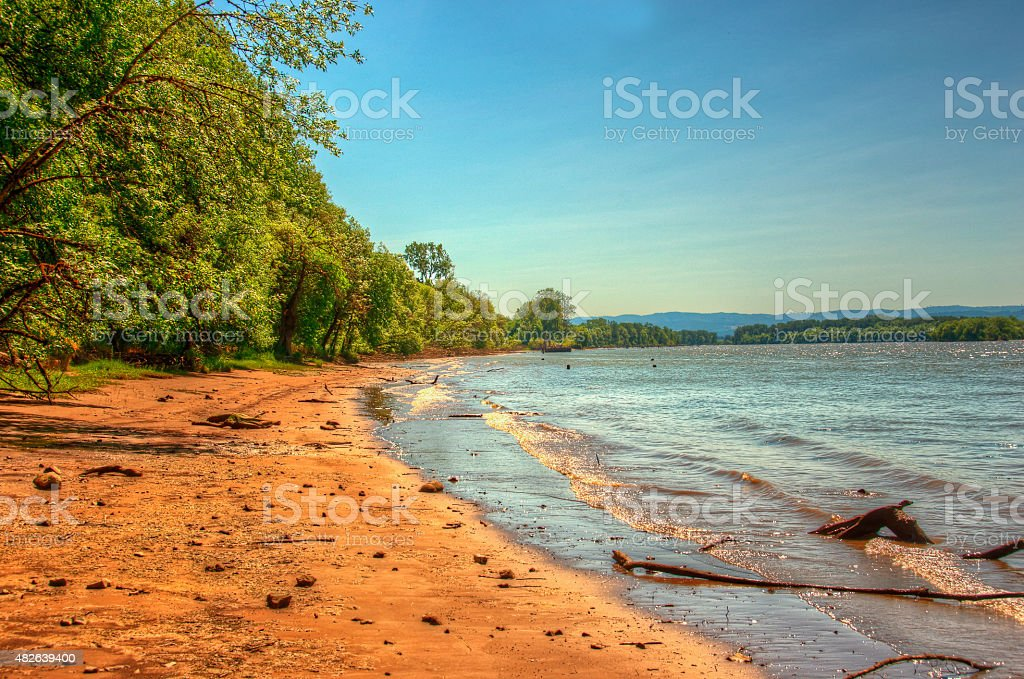 Suavie Island Beach stock photo