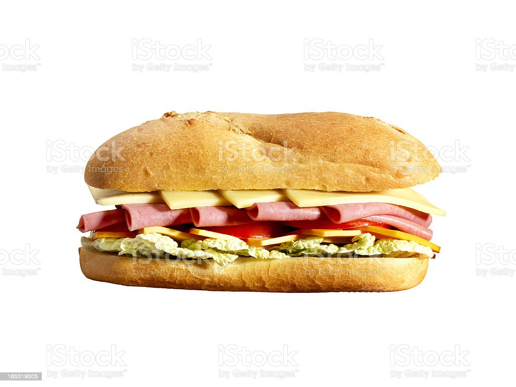 Sub Sandwich+Clipping Path royalty-free stock photo