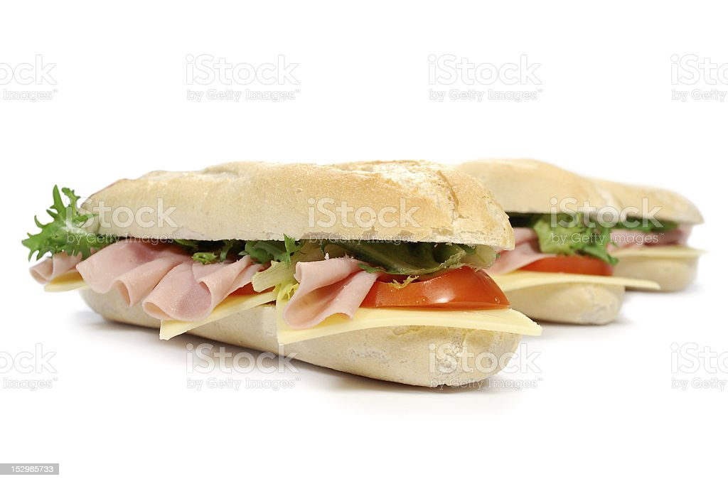 Sub sandwiches royalty-free stock photo