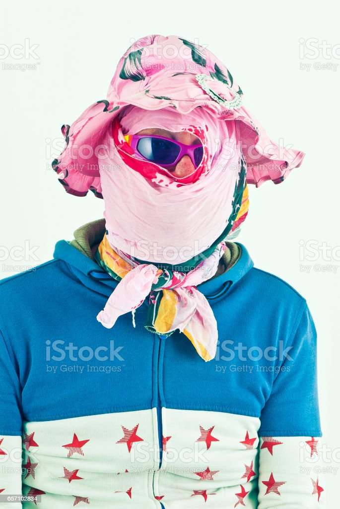 Subanned range of sunglasses for the discerning cheap charlie who has issues with suntans. stock photo
