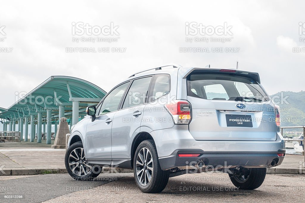 Subaru Forester 2.0 XT 2016 Test Drive Day stock photo
