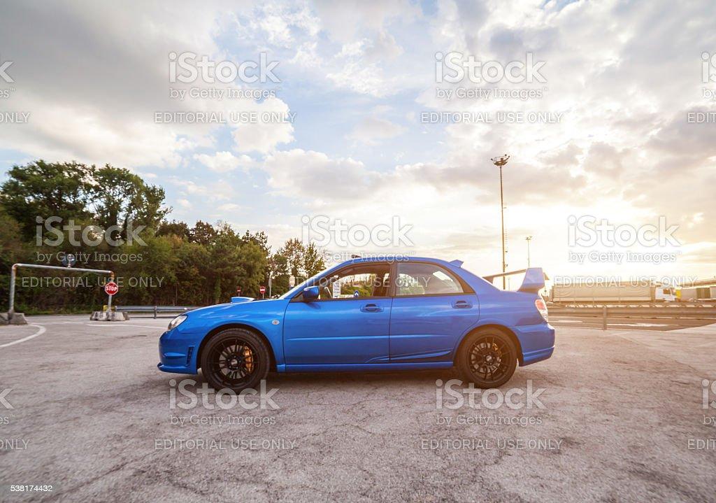 Subaru Impreza STI 2006 Version. stock photo