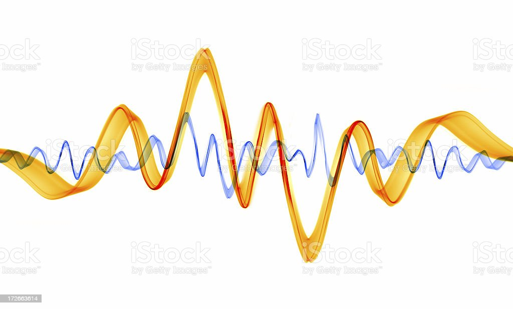 Sub-atomic Waves stock photo