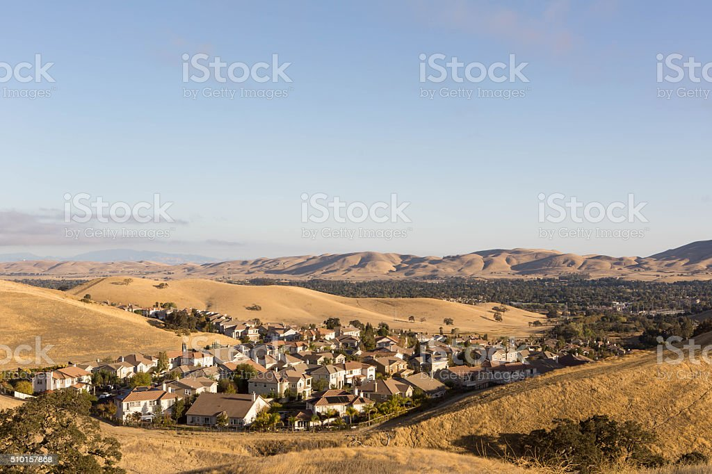 Subdivision in the Hills stock photo