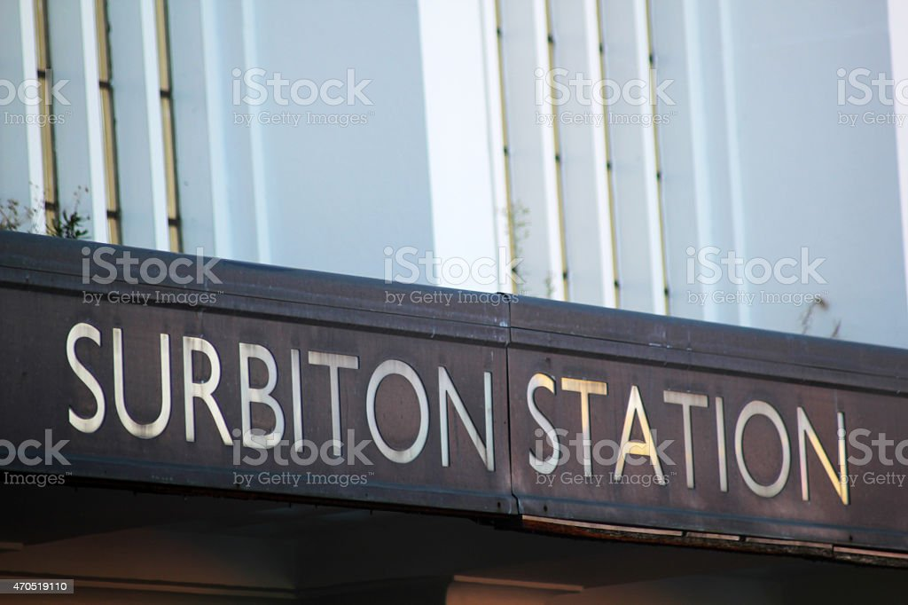 Subiton Station Sign stock photo