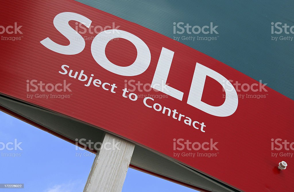 SOLD - Subject to Contract, For Sale royalty-free stock photo