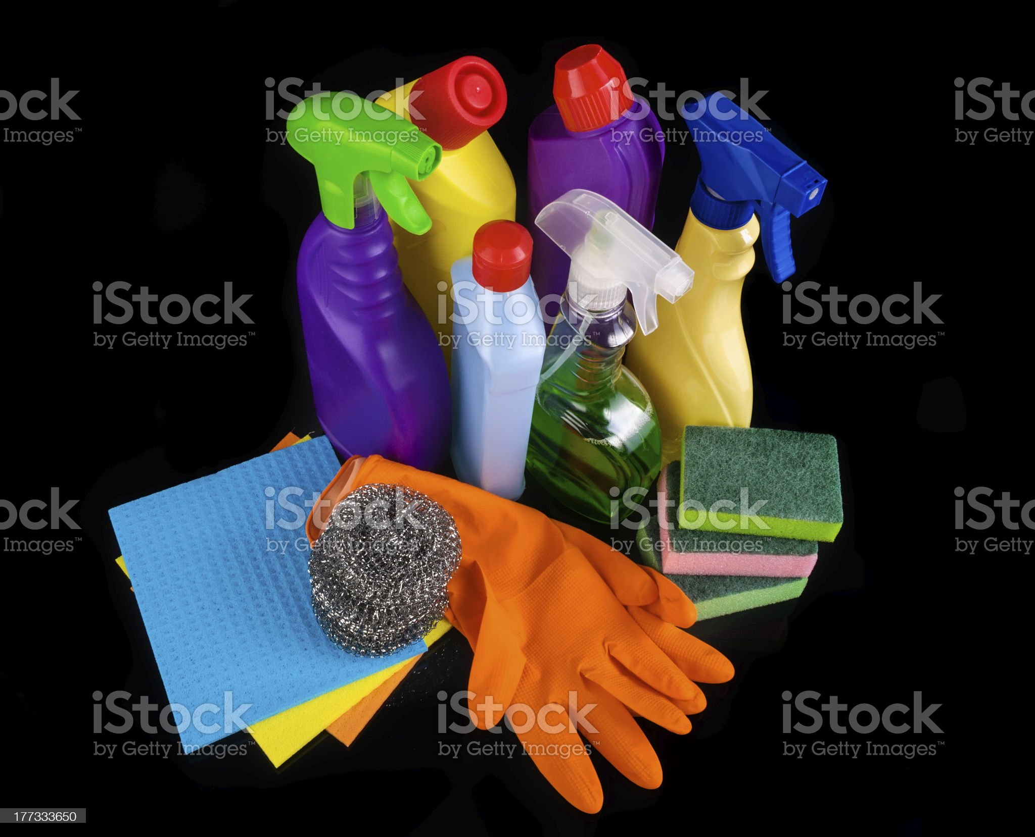Subjects for sanitary cleaning a house royalty-free stock photo