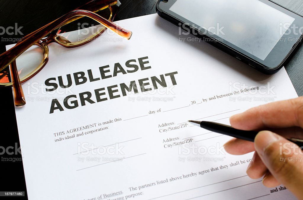 sublease agreement royalty-free stock photo
