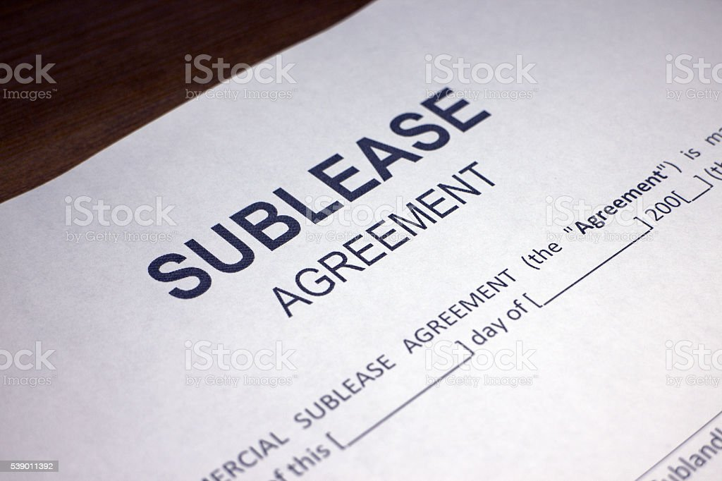 Sublease Agreement stock photo